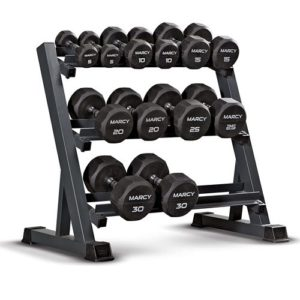 marcy 3 tier dumbbell rack