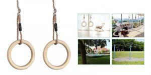 HAPPY PIE PLAY&ADVENTURE 1 Pair Wooden Gymnastic Rings