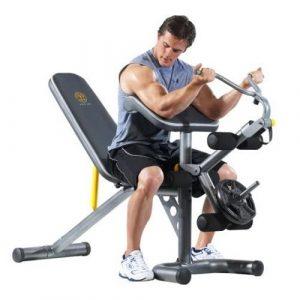golds gym bench press
