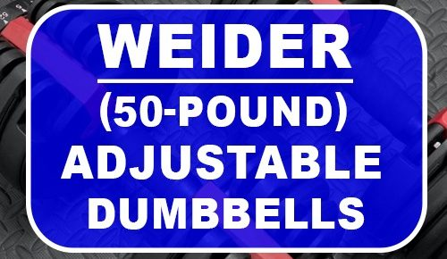 weider 50-pound select-a-weight pair