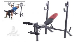 ICON Fitness Weider Pro 345 B Mid Width Bench For Home Gym