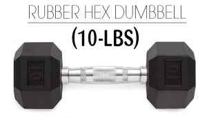 Rubber Hex 10lbs Dumbbell