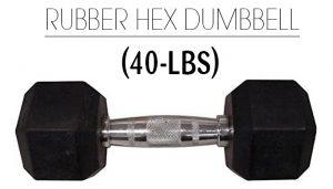Weider 40Lbs Rubber Hex Dumbbell