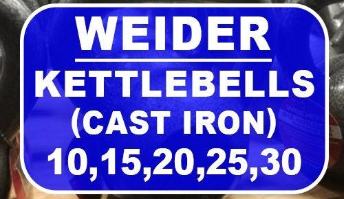 Weider Cast Iron Kettlebells