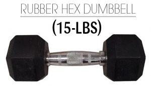 Weider Rubber Hex 15Lbs Dumbbell