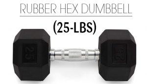 Weider Rubber Hex 25Lbs Dumbbell