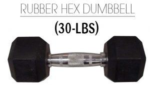 Weider Rubber Hex 30Lbs Dumbbell