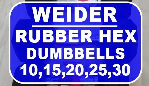 Weider Rubber Hex Dumbbells