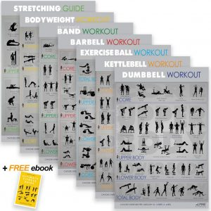 7 Exercise Workout Gym Posters