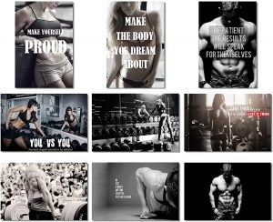 Bodybuilding Men Girl Fitness Workout Quotes