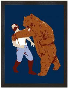 Fighting Bear Poster