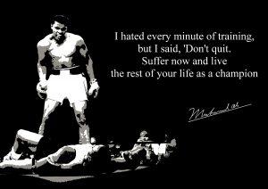 Muhammad Ali (1) Signed Inspirational Motivational