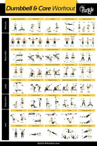 My Fit Life Gym Dumbbell and Core Workout Poster