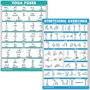 QuickFit Yoga Poses and Stretching Exercise Poster