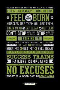 The Burn Motivational Exercise poster